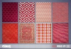 Oh My Sims 4 - Red rugs