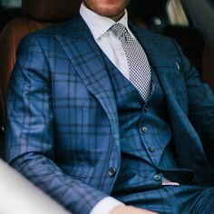 Gun Checks. Garrison Gun Check 3 Piece Suit - you can break up the jacket as a blazer: paired up with a Drakes for Garrison Jacquard Houndstooth tie.