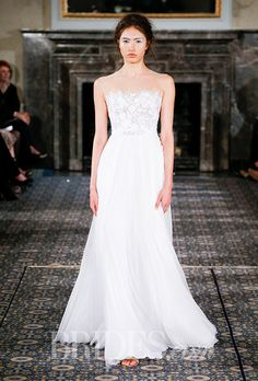 Brides.com: . Wedding dress by Mira Zwillinger