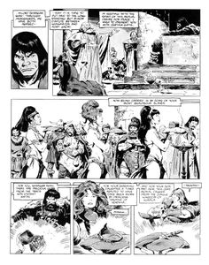 Remembering John Buscema, he passed away 10 years ago last January. He was a legendary comic-book artist of the highest caliber and one of. Comic Book Pages, Comic Book Artists, Comic Artist, Comic Books, Jean Giraud, John Buscema, Black And White Artwork, Conan The Barbarian, Sword And Sorcery