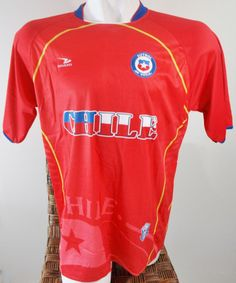 CHILE SOCCER JERSEY T-SHIRT DRAKO FÚTBOL ONE SIZE L FOOTBALL WORLD CUP 2014 FIFA #Drako #soccershirts #soccerjerseys #fifaworldcup #football #soccer #worldcup2014 #chile