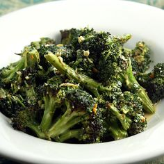 Roasted Broccoli with Tangy Feta Dressing