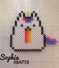 Image result for pusheen mini perler beads