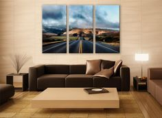 California Highway Road Canvas Photo 3 Panels Print Wall Decor Fine ArtLandscape Photography Repro Print for Home and Office Wall Decoration by ZellartCo TAGS california highway desert mountains road landscape road photography wonderlust country road highway print canvas print wall art home decor