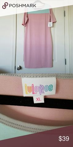 Lularoe Julia XL NWT Beautiful simple Julia in light pink and teal. NWT and next business day shipping Lularoe  Dresses Midi
