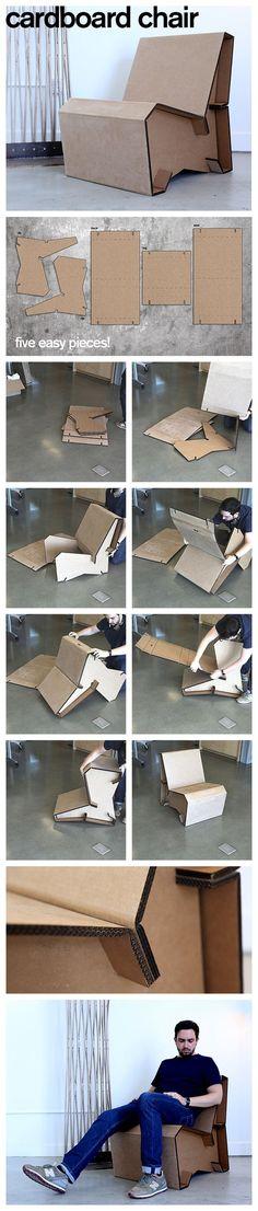 5 Piece Cardboard Lounge Chair: