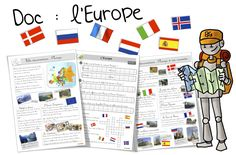 Documentaries and exercises (cycle on Europe and its curiosities. Emc Cycle 3, Cycle 2, Alternative Education, Teaching Geography, Teacher Signs, Montessori Education, French Classroom, France Europe, Cycling Workout