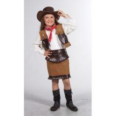 Déguisement cowgirl enfant fille, Déguisement cowboy deluxe fille