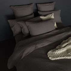 All our linen bedding is made of the highest quality 100% natural linen fabric. We love the feel and look of natural pure linen - it is true luxury....#quiltcovers #doonacovers #superkingquiltcovers #superkingbedlinen #bedlinen #linen #bedding #kingsheets #superkingsheets #quiltcover #homedesign #linen Linen Bedding, Linen Fabric, Bed Linen, Down Quilt, Double Quilt, Superking Bed, King Sheets, Bed Sheets, European Pillows