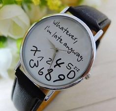 Quirky Unisex Wristwatch - Black Faux Leather Strap #wristwatch #watch #quirky #unisex #leather #fauxleather http://m.ebay.co.uk/itm/Black-Leather-Style-Strap-Quirky-Unisex-Wrist-Watch-White-Face-Ladies-Mens-Xmas-/282075194068?nav=SELLING_ACTIVE