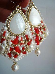 """Earrings Set """"Coral Reef""""."""