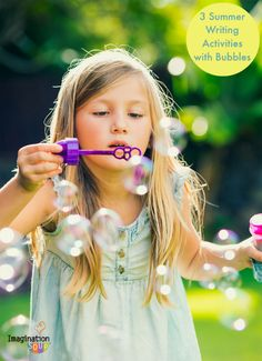 3 Summer Writing Activities with Bubbles - perfect for your very youngest writers. How fun are these?!
