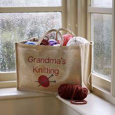 Personalised Knitting Bag