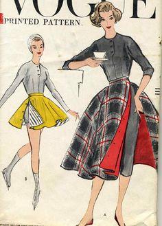 Vintage 50s Vogue 9369 UNCUT Misses Cigarette Pants by RomasMaison, $67.00