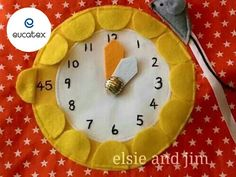 Heure feutrine horloge quiet book