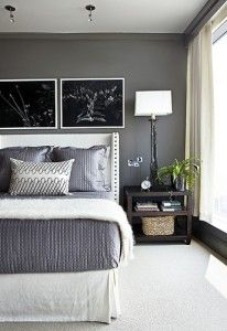 I think that this is such a great color for a dark grey with a bit of drama.  What do you think? image via house beautiful