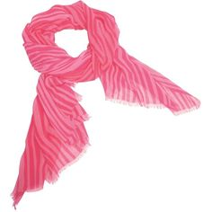 Vera Bradley Silk Chiffon Scarf in Katalina Pink Stripe featuring polyvore, fashion, accessories, scarves, katalina pink stripe, pink shawl, vera bradley scarves, fringed shawls, pink scarves and oversized scarves