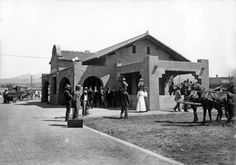 #VintageSantaFe The railroad depot in Santa Fe pictured around 1912 has seen plenty of action: From 1880 to the present, five rail lines have served Santa Fe County alone. Today another train is pulling up to the station, the Rail Runner Express, which began commuter service between Albuquerque and Santa Fe in December 2008. - Courtesy Palace of the Governors Photo Archives (NMHM/DCA), #66658