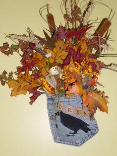 Autumn Foliage Raven Dream Hanging by TrueColorsBoutique on Etsy, $15.00
