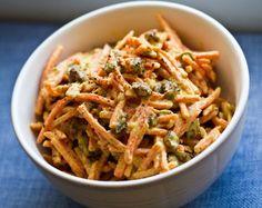 Easy Tahini Curried Carrot Salad. Spicy-Sweet.