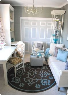 Feminine and modern home office Modern Home Office Decorating Ideas For Women With Feminine Colours