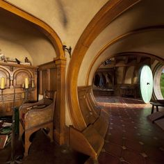 I want to live in a hobbit hole.  Or at least vacation in one.