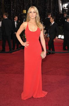 Jennifer Lawrence - Calvin Klein Collection - One of my fav dresses of past awards seasons!