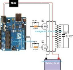 Arduino Pure Sine Wave Inverter Circuit