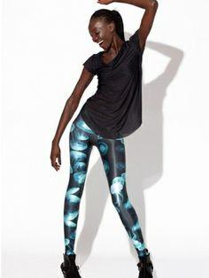 Jellyfish Blue Leggings by Black Milk Clothing Galaxy Leggings, Blue Leggings, Women's Leggings, Gothic Leggings, Printed Leggings, Looks Style, My Style, Def Not, Black Milk Clothing