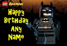 lego batman birthday party | Home > PERSONALISED BIRTHDAY CARDS > CHILDRENS TV & FILM CHARACTERS ...