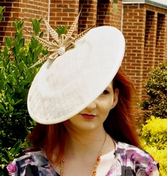Hat fascinator dressy feathered wedding by McGarritys on Etsy, $65.00