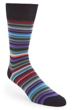 Men's Paul Smith Stripe Socks - Brown