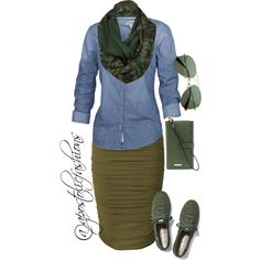 Here is another really cute combo making a pencil skirt look casual. Legwear is still a question. It is a fall/winter outfit so bare legs would not work, especially in most states 😄 Lisa Fat Fashion, Fashion Mode, Look Fashion, Winter Fashion, Fashion Outfits, Fashion Trends, Fashion News, Modest Outfits, Fall Outfits