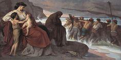 Medea por Anthony Frederick Augustus Sandys      MEDEA     Medea es el título de una tragedia de Eurípides.   Se representó en el pr...