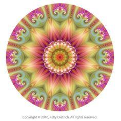 Mandala Art Print  Beauty Fractal Mandala  6x6 by kellydietrich, $25.00