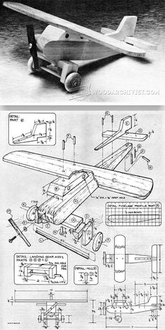 Wooden Airplane Plans - Children's Wooden Toy Plans and Projects | WoodArchivist.com