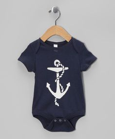 The anchor on this sweet bodysuit signals the discovery of the perfect funtime garment. Thanks to cozy soft cotton, a lap neck and snaps on bottom, Baby will be feeling the love.100% cottonHand washMade in the USA