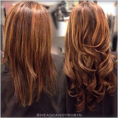 Go from fine, short hair to long, full hair in an hour with our beautiful seamless extensions! Nice work by Robin! #salonheadcandy #hairtalk #hairextensions #longhairdontcare