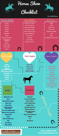 Horse Show Checklist! :) <3