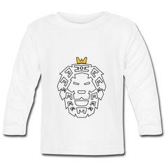 Löwenkopf Baby Langarmshirt  Weiches Langarmshirt für Babys mit Knöpfen am Kragen, 200 g/m², 100 % Baumwolle, Marke: Babybugz Babys, Graphic Sweatshirt, Sweatshirts, Sweaters, Design, Fashion, Cotton, Kids, Babies
