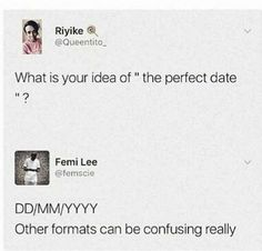 """What is your idea of """"the perfect date""""?"""