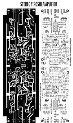 PCB Layout design for stereo power amplifier yiroshi. Electronics Projects, Electronic Circuit Projects, Hobby Electronics, Crown Amplifier, Hifi Amplifier, Class D Amplifier, Audio Box, Circuit Board Design, Circuit Diagram
