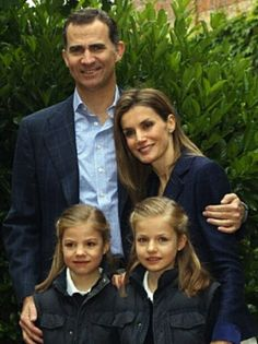Ten years wedding anniversary for Spanish Crown Prince Felipe and Crown Princess Letizia, normal day leaving from Zarzuela Palace with daughters Infantas Leonor (R) and Sofia to go to school on 22.05.2014