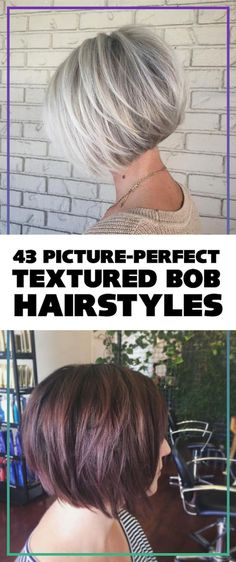 50 Chic Short Bob Hairstyles & Haircuts For Women In 2019 - Pictures Of Textured Bob Hairstyles Textured Bob Hairstyles, Side Bangs Hairstyles, Short Bob Hairstyles, Hairstyles Haircuts, Haircut Short, Bob Haircuts, Hair Bangs, Trendy Haircuts, Elegant Hairstyles