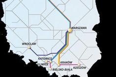 Mapa połączeń Pendolino