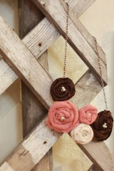 Neapolitan Rosette Necklace by adawndesigns on Etsy, $20.00