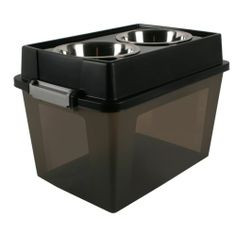 Dog Feeder Bowl Airtight Food Storage 2.2 Quart Pet Bowls Deluxe Elevated Large