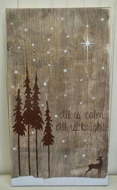 Rustic Holiday Sign #Christmas Sign Rustic by…