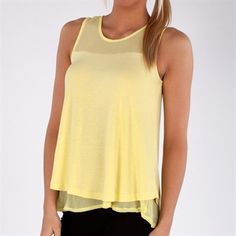 Kische Double-Layered Illusion Tank #VonMaur #Kische #Yellow