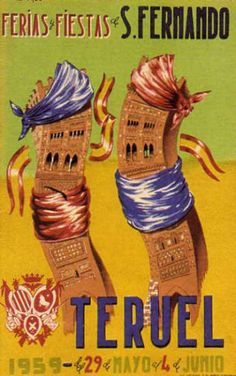 Cartel Fiestas Teruel año 1959